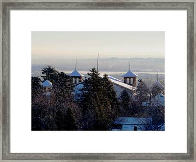 Chautauqua Auditorium At Sunrise Framed Print