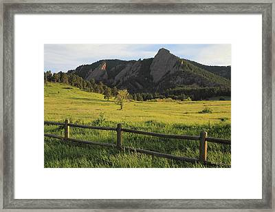 Chautauqua Park And Flatirons Framed Print
