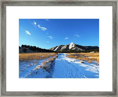 Chautauqua Powder-draped Framed Print