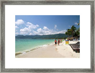 Chaweng Beach And The Gulf Of Thailand Framed Print