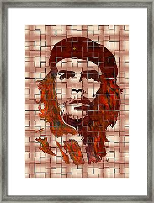Che Guevara Digital From Watercolor Painting Framed Print