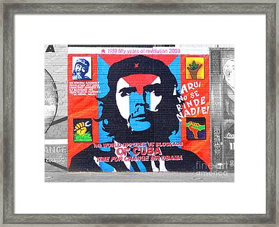 Che Guevara Framed Print by Nina Ficur Feenan