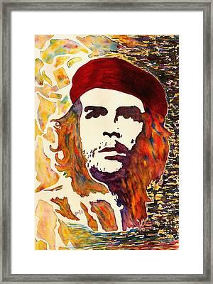 Che Guevara Original Watercolor Framed Print