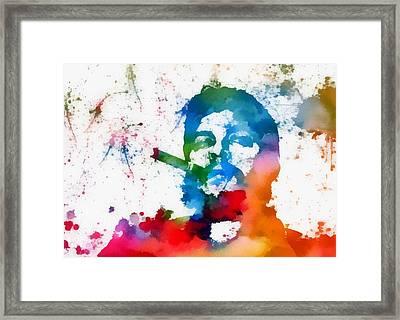 Che Guevara Paint Splatter Framed Print by Dan Sproul