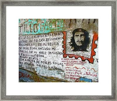 Framed Print featuring the photograph Che Guevara by Ramona Johnston