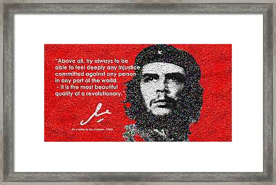 Che Guevara To His Children Framed Print by Faye Giblin