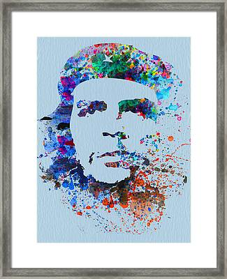 Che Guevara Watercolor Framed Print by Naxart Studio