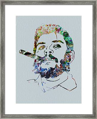 Che Watercolor Framed Print by Naxart Studio