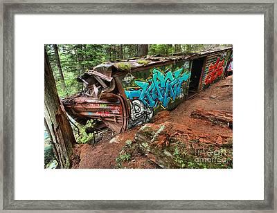 Cheakamus River Train Derailment Framed Print