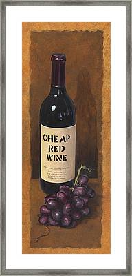 Cheap Red Wine Framed Print by Terri  Meyer