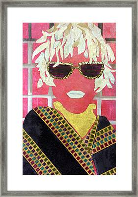 Cheap Sunglasses Framed Print by Diane Fine