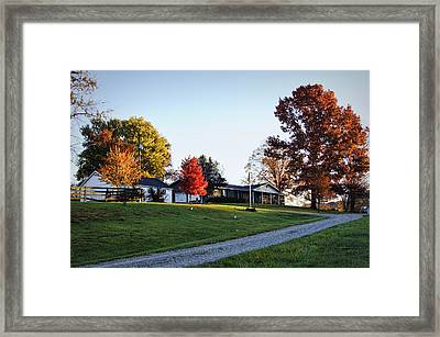 Cheavens Home Place Framed Print by Cricket Hackmann