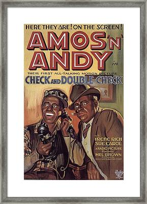 Check And Double Check  Framed Print