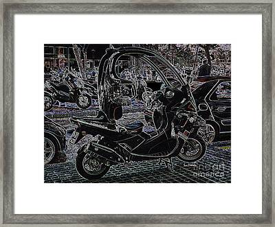 Check Out My Ride Framed Print by Sue Melvin