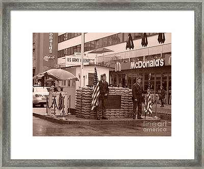 Check Point Charlie Framed Print