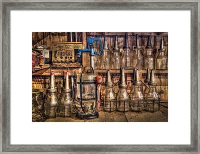 Check Your Oil Framed Print