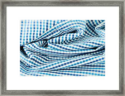Checked Cotton  Framed Print by Tom Gowanlock