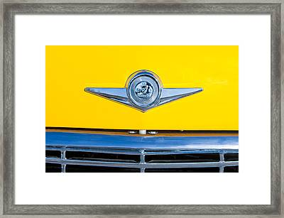 Checker Taxi Cab Emblem Framed Print by Jill Reger
