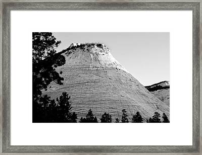 Checkerboard Mesa Black And White Framed Print by Jemmy Archer