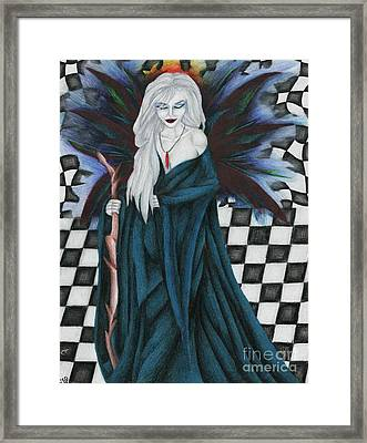 Checkerboard Sorcery Framed Print by Coriander  Shea