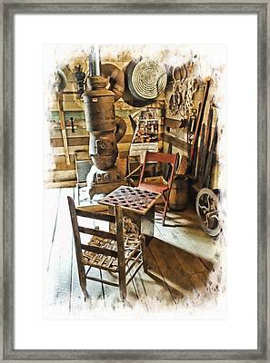 Checkers At The General Store Framed Print by Kenny Francis