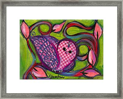 Checkers Birdy Framed Print