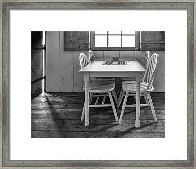 Checkers - Bw Framed Print by Nikolyn McDonald