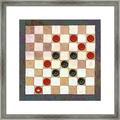 Checkers Game Framed Print