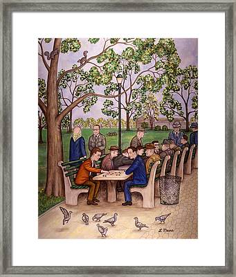Checkers In The Park Framed Print