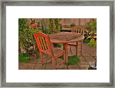 Checkers Framed Print by Kathleen Struckle