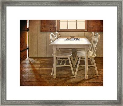 Checkers Framed Print by Nikolyn McDonald