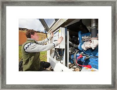 Checking Backup Diesel Generators Framed Print