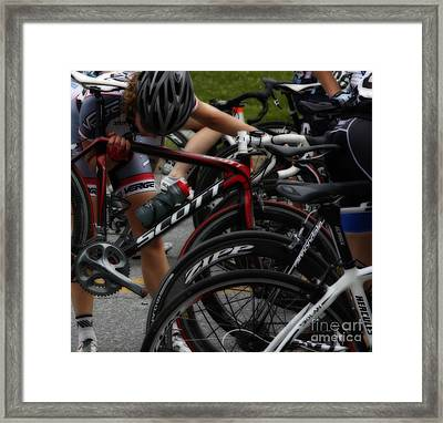 Checking Out Scott  Framed Print by Steven  Digman