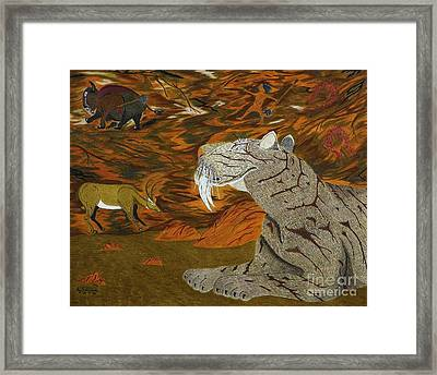 Checking The Air In The Nomads Lair Framed Print by Gerald Strine