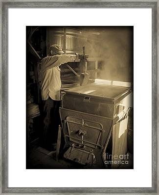 Checking The Maple Syrup Framed Print