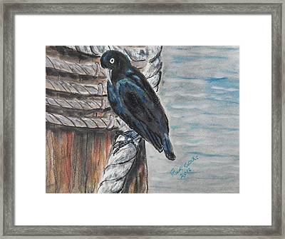 Checking The Moorings Framed Print by Richard Goohs