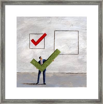 Checkmark Framed Print