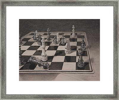 Checkmate Framed Print by Christopher Reid