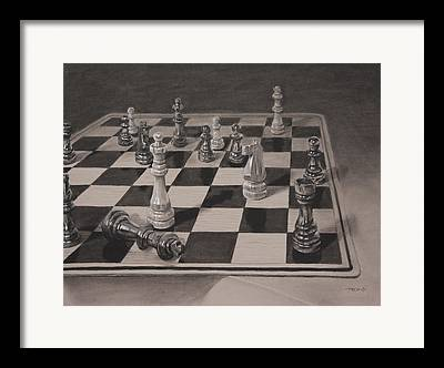 Chess Queen Paintings Framed Prints
