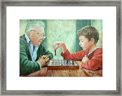 Checkmate Framed Print by Danielle Arnal