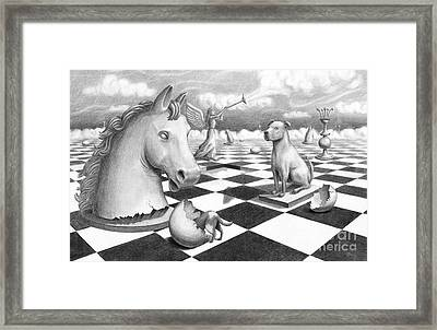 Checkmate Framed Print by Denise M Cassano