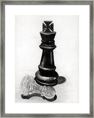 Checkmate Framed Print by Ilshad Luckhoo