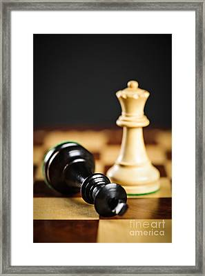 Checkmate In Chess Framed Print