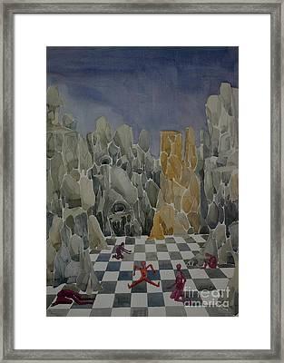 Checkmate Framed Print by Lara Larson