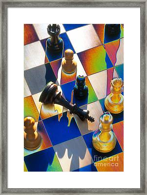 Checkmate Framed Print by Mike Agliolo