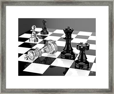 Checkmate Framed Print by Tomislav Zivkovic