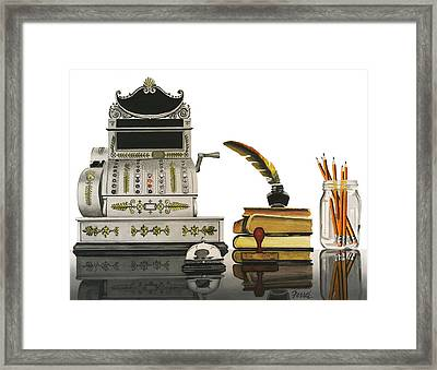 Framed Print featuring the painting Checkout Time by Ferrel Cordle
