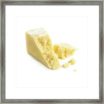 Cheddar Cheese Framed Print by Science Photo Library