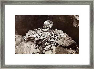Cheddar Man Bones Framed Print