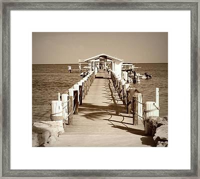 Cheeca Lodge Dock Framed Print by Jim Rabenstine